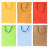 Set of shopping bags stock photo