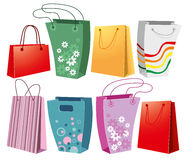Set of shopping bags Stock Images
