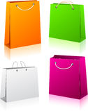 Set of shopping bags. Royalty Free Stock Images