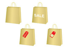 Set of shopping bags Stock Image