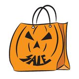 Set of shopping bags with the Halloween pattern royalty free stock images