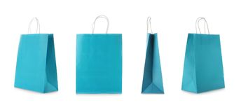 Set with shopping bags. On white background stock photography