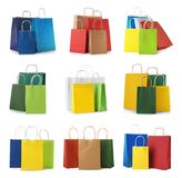 Set with shopping bags stock photo