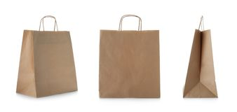 Set with shopping bags. On white background royalty free stock images