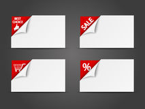 Set of shopping  banners Royalty Free Stock Image