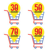 Set Of Shopping Basket Discount Stock Photography