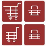 Set of shopping baskets Royalty Free Stock Photos