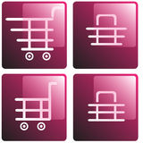 Set of shopping baskets Royalty Free Stock Images