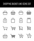 Set of shopping cart icons in modern thin line style. Stock Photo