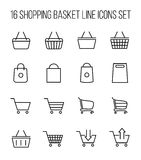 Set of shopping cart icons in modern thin line style. Stock Image