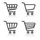 Set of shopping cart  icons Stock Images