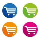 Shopping. A set of shopping cart icons Royalty Free Stock Photos