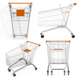 Set of shopping carts Royalty Free Stock Image