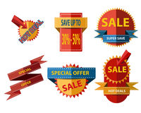 Set of Shopping Element Flat Style Stock Images
