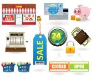 set shopping för 2 symbol Arkivbilder