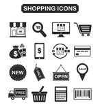 Set of shopping icon, E commerce icon Stock Photography