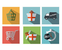 Set of Shopping Icon Royalty Free Stock Images