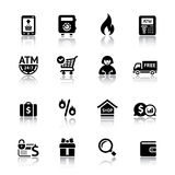 Set shopping icons. Vector illustration Royalty Free Stock Photo