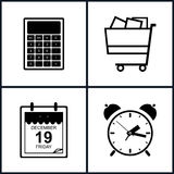 Set of Shopping Icons , Budgeting Stock Photography