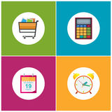 Set of Shopping Icons , Budgeting Stock Photo