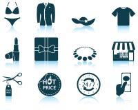 Set of shopping icons Stock Photos