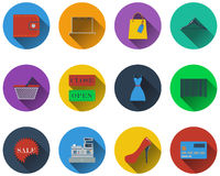 Set of shopping icons Stock Photography