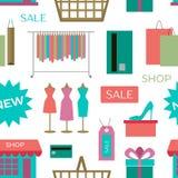 Set of shopping icons pattern Royalty Free Stock Photo