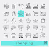 Set of shopping icons. Stock Photo
