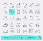 Set of shopping icons. Royalty Free Stock Photo