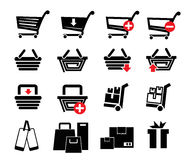Set shopping icons Stock Photo