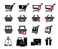 Set shopping icons Stock Photo