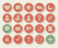 Set of shopping icons. Vector graphic Set of shopping  business icons Stock Photography