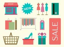 Set of shopping icons Stock Photo