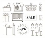 Set of shopping icons Royalty Free Stock Image