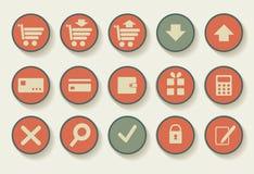 Set of shopping icons Stock Image