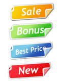 Set of shopping  labels Stock Photos