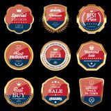 Set of Shopping and Marketing Badges. Vector illustration Royalty Free Stock Photo