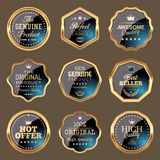Set of Shopping and Marketing Badges. Vector illustration Royalty Free Stock Images