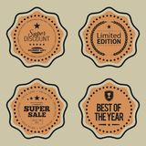 Set of Shopping and Marketing Badges. Vector illustration Royalty Free Stock Image