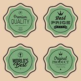 Set of Shopping and Marketing Badges. Vector illustration Royalty Free Stock Photos