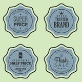 Set of Shopping and Marketing Badges. Vector illustration Stock Image
