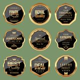 Set of Shopping and Marketing Badges. Vector illustration Stock Photos