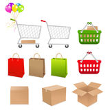 Set Shopping Of Elements. Vector