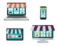Set shopping online Stock Image
