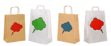 Set of shopping paper bags Royalty Free Stock Photo