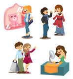 Set of shopping people Stock Images
