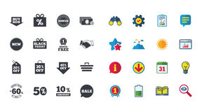 Set of Shopping, Sale and Discounts icons. Royalty Free Stock Photography