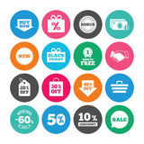 Set of Shopping, Sale and Discounts icons. Royalty Free Stock Images