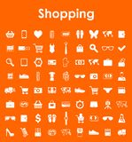Set of shopping simple icons Stock Images