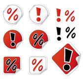 Set Of Shopping Stickers Royalty Free Stock Photography